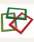 Обложка-карман для проездных документов (50шт.) ДПС, с цветной рамкой, 75*105мм, ПВХ, ассорти