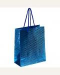 Пакет подарочный 18*23*10см ArtSpace, голографический, голубой