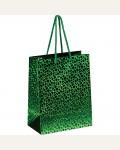 Пакет подарочный 18*23*10см ArtSpace, голографический, зеленый