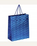 Пакет подарочный 26*32*12см ArtSpace, голографический, синий