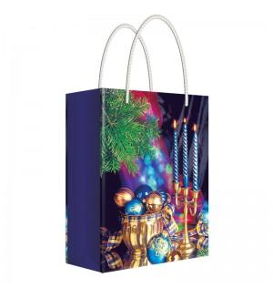 Пакет подарочный новогодний 11*13,5*6см Русский дизайн