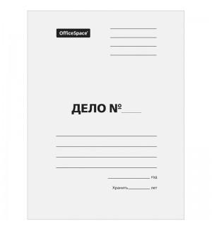 """Папка-обложка OfficeSpace """"Дело"""", немелованный картон, 380г/м2, белый"""