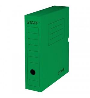Короб архивный, 75 мм, до 700 листов, зеленый