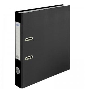 Пaпкa-регистратор OfficeSpace® 50мм, бумвинил, с карманом на корешке, черная