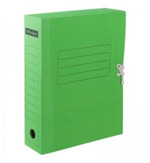 Папка архивная с завязками OfficeSpace, микрогофрокартон,  75мм, зеленый, до 700л.