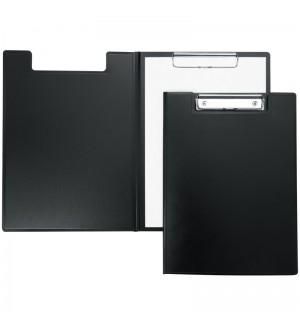 Папка-планшет с зажимом, пластик, черная
