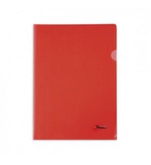 Папка - уголок пластиковая А4, 180мкм красная