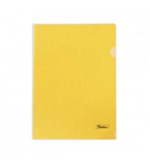 Папка - уголок пластиковая А4, 180мкм желтая