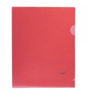 Папка-уголок пластиковая А5, 180мкм, красная