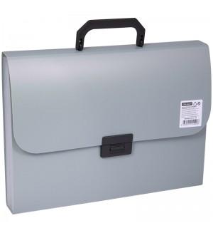 Папка-портфель  7 отделений OfficeSpace, A4, 330*235*35мм, 700мкм, серый