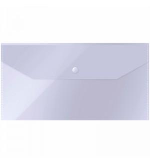 Папка-конверт на кнопке OfficeSpace С6 (135*250мм), 150мкм, прозрачная