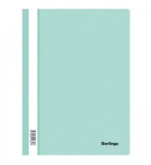 Папка-скоросшиватель пластик. Berlingo, А4, 180мкм, мятный с прозр. верхом