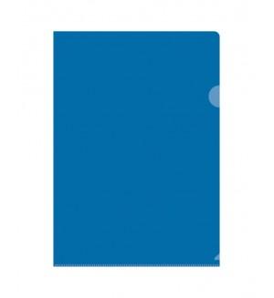 Папка-уголок A4 0,15мм синяя