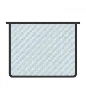 Папка А5-00 молния сверху бесцветная, черная окантовка, пластик