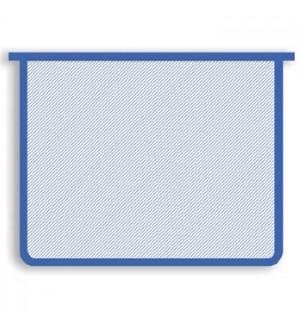 Папка бесцветная, синяя окантовка, А5, молния сверху, пластик