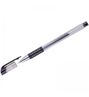 Ручка гелевая OfficeSpace черная, 0,5мм, грип, игольчатый стержень