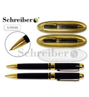 Ручка шариковая, подарочная, пишущий узел 0,7мм, корпус круглый, цвет чернил синий