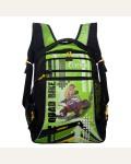 Рюкзак школьный Grizzly RB-631-1/1, цвет: черный, салатовый