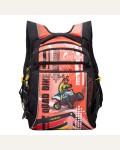 Рюкзак школьный Grizzly RB-631-1/3, цвет: черный, красный
