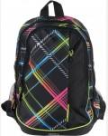 Рюкзак молодежный Grizzly RU-707-6/1, цвет: черный, клетка