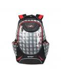 Рюкзак молодежный Ufo People 5703, цвет: черный, серо-красный