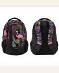 Рюкзак городской KITE 17 855-17 Style-1, цвет: черный, яркая вставка