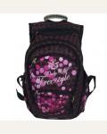 Рюкзак школьный Ufo People 13359, цвет: черный, розовый