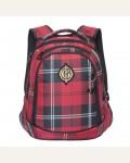 Рюкзак молодежный Grizzly RD-745-1/2, цвет: бордовый (клетка)