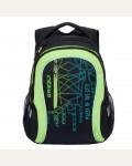Рюкзак молодежный Grizzly RU-716-1/1, цвет: черный, салатовый