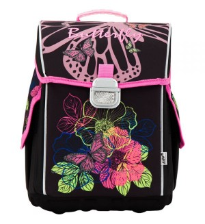 Рюкзак школьный каркасный Kite Blossom 503-2, цвет: черный
