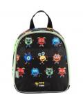 Рюкзак дошкольный 21x18x6 см черного цвета с изображением маленьких монстров