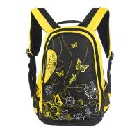Рюкзак Grizzly, цвет: черный - желтый