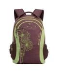 Рюкзак молодежный Grizzly RD-636-1/1, цвет: коричневый, салатовый