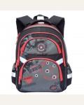 Рюкзак школьный Grizzly RB-629-2/1, цвет: черный, красный