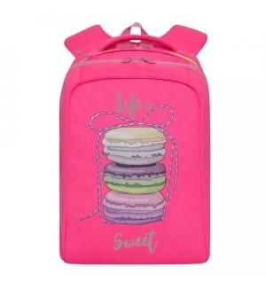 Рюкзак школьный, цвет ярко-розовый, 26х39х17 см