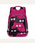 Рюкзак школьный, цвет жимолость, 2 отделения, 1 карман + отделение для обуви