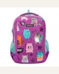 Рюкзак школьный, цвет фиолетовый, 2 отделения, 27х38х19 см