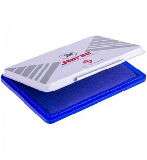 Штемпельная подушка Horse, 110*70мм, синяя, пластиковая №2