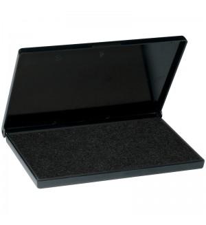 Штемпельная подушка 110*70мм, черная, пластиковая