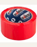 Клейкая лента упаковочная Unibob, 50мм*66м, красная