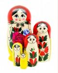 Матрешка традиционная 5 кукольная большая.