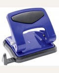 Дырокол OfficeSpace 35л., металлический, синий, с линейкой