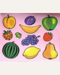 Трафареты пластиковые. Фрукты и ягоды