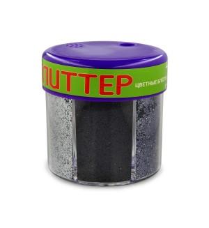 Глиттер для декора с дозатором №3, 60 грамм, серебро (6 цветов)