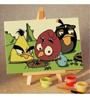 Angry Birds. Ой! Раскраска по номерам