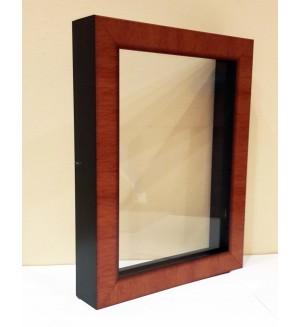 Рама со стеклом с прозрачным дном для папертоли (пластик) 21х30 см, янтарь