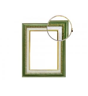 Рама со стеклом с прозрачным дном для папертоли яшма (пластик). Размер 18х24 см