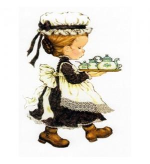 Папертоль «Девочка с чайным подносом»