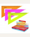 Угольник пластиковый Neon, 22см/60°, ассорти