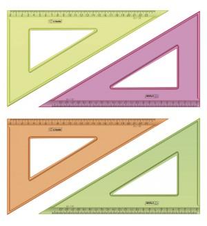 Треугольник, 23 см, 30 градусов, флуоресцентный, прозрачный